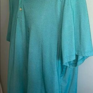 Perry Ellis Shirts - NWT Men's XXL Perry Ellis Principle Grn/Blue Polo